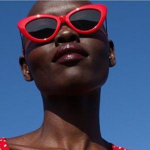 Zara 2019 red cat eye sunglasses